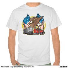 American Flag Trucker T Shirts