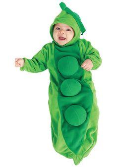 Newborn Baby Pea in the Pod costume #Halloween #Infant