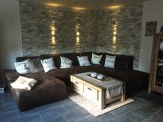 ✨ 💕 ✨ 💕 ✨ 💕 wall cladding, stone look, stone wall for interior living room 67 sports United club wohnzmer aips Interior Walls, Living Room Interior, Living Room Decor, Interior Design, Living Room Ideas 2019, Living Room Designs, Diy Fireplace, Living Room With Fireplace, Wall Cladding
