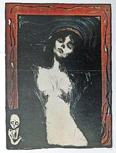 Edvard Munch 10 1 4 X 13 Color Illustration Painting Print Art Madonna Title