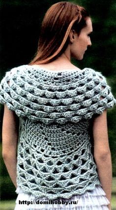 Vest of the Circle free crochet pattern
