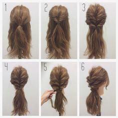 Hair Styles Hairstyle In 2019 Long Hair Styles Hair Hair Styles- summer hairstyles for work summer h Work Hairstyles, Pretty Hairstyles, Summer Hairstyles For Medium Hair, Romantic Hairstyles, Braided Hairstyles Tutorials, Wedding Hairstyles, Medium Hair Styles, Curly Hair Styles, Hair Arrange