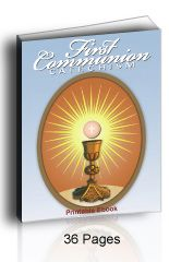 Catholic First Communion Catechism booklet has the Baltimore Catechism questions and answers with Catholic coloring pictures. +❤+ Check out https://www.saintanneshelper.com/ Thank you for sharing! :-)  #CatholicHomeschool #CatholicFirstCommunion #CatholicConfirmation