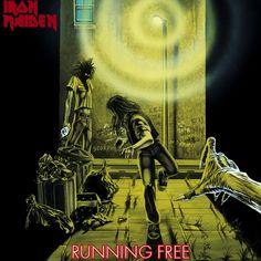 """Iron Maiden - Running Free on Limited Editon 7"""" Vinyl"""