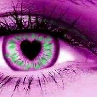 # EYES- PURPLE  & GREEN HEART