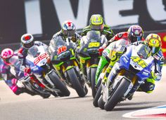 MotoGP train of riders, such an amazing shot!