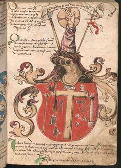 Wernigeroder (Schaffhausensches) Wappenbuch Süddeutschland, 4. Viertel 15. Jh. Cod.icon. 308 n  Folio 2r