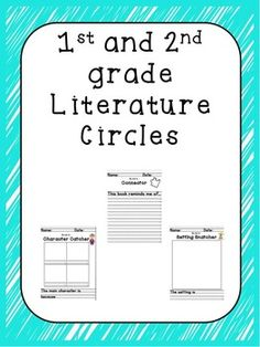 """This compilation of work is for introducing literature circles to the primary grades.  The folder contains 2 different files.   The first file contains colored cards that describe each of the jobs and include """"I can"""" statements to aid the students in their work."""