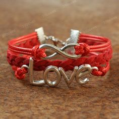by (39boxes) Love bracelet - red infinity bracelet with love charm for girlfriend, unique gift for girls and GF., 39boxes, Bracelet, Metal, Bracelets, Xmas+gift, New+years+gift, Infinity+bracelet, Women+gift, Grilfriend+bracelet, Girls+bracelet, Infinity, Sweet+gift, Red, Love+bracelet, Love, Love+jewelry,