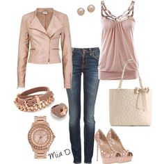 """Old Pink <3"" by misssglamour on Polyvore"