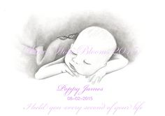 Chloe James, Personalized Pencils, Butterfly Baby, Baby Memories, Pencil Portrait, Type 3, Poppies, Bloom, Portraits