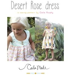 Desert Rose Dress sewing pattern by CailaMade! *available now*