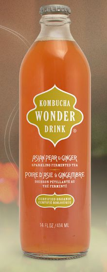 Kombucha Wonder Drink is a curiously tart, sparkling  fermented tea. Its naturally occurring acids can help detoxify  and energize your body*–without alcohol.