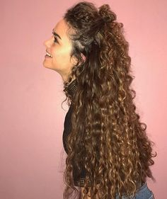 Hairstyles For Long Curly Hair Simple Pincarling Haitbrink On I Love My Curly Hair  Pinterest  Curly
