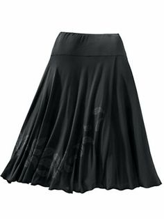 Women's Paisley Faux-Wrap Skirt   Sahalie......love the length and it's jersey knit......Will probably order one in every color......pair with plain white tee