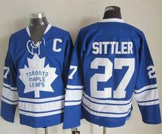 8a58b1ee20b Toronto Maple Leafs #27 Darryl Sittler Blue CCM Throwback Third Stitched  NHL Jersey