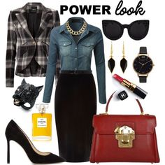 super power look by kc-spangler on Polyvore featuring LE3NO, Smythe, River Island, Jimmy Choo, Dolce&Gabbana, Alexis Bittar, House of Harlow 1960, Isabel Marant, Olivia Burton and Ann Demeulemeester