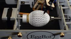 Start your Easter celebration early with this fun video from Jiri Zemanek and his team at AA4CC who turned Easter eggs covered in stroboscopic patterns into animated zoetropes. To create each animation they drew a pattern on a regular chicken egg with Bruce Shaprio's brilliant open source Egg