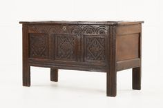 17th Century English Carved Oak Coffer - Decorative Collective