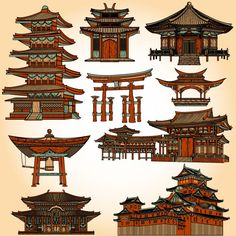 Find the perfect tattoo artist to create the work of art that is you Ancient Chinese Architecture, Japanese Buildings, China Architecture, Architecture Drawings, Dungeons And Dragons, Environment Concept Art, Japanese Art, Japanese Pagoda, Chinese Art