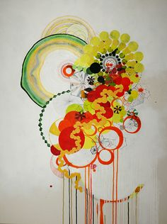 """ny.08.#08,   40"""" x 30"""",  mixed media on canvas,  2008  available at Parts Gallery"""