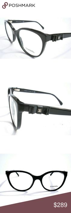 Chanel Eyeglasses Authentic new Chanel Eyeglasses  Black frame  Size 54-18-140 Includes original case only CHANEL Accessories Glasses