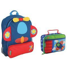 Stephen Joseph Boys Sidekick Airplane Backpack and Lunch Box for Kids * You can get more details here : Travel Backpack Boys Backpacks, School Backpacks, Preschool Backpack, Lunch Box Set, Cute Baby Videos, Camping And Hiking, Gifts For Mum, Travel Backpack, Horse Backpack