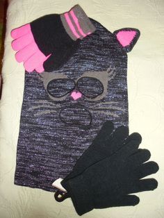NWT~Hoodie with 2 pairs of Gloves...Winter...Children & Adults~Ages 5 & UP.... in Clothing, Shoes & Accessories, Kids' Clothing, Shoes & Accs, Girls' Accessories | eBay