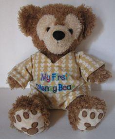 Pre-Duffy HIDDEN MICKEY teddy bear MY FIRST DISNEY BEAR Duffy PJs Disney Resorts #Disney