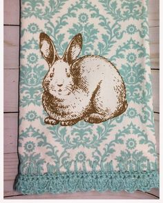 A personal favorite from my Etsy shop https://www.etsy.com/listing/500782046/bunny-crochet-kitchen-towelhand