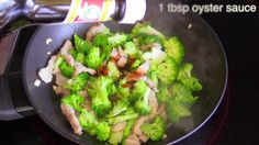 Broccoli Pork and Oyster Sauce : Thai Food Part 55 : How to Make Thai Fo...