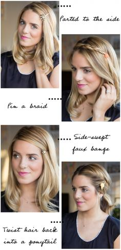 4 Ways To Style Embellished Bobby Pins #hairstyle #hairdo #tutorial #DIY #creativity #selfmade