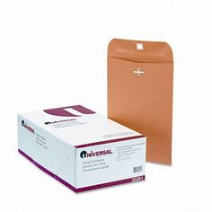 Universal Products Kraft Clasp Envelope, 100/Box