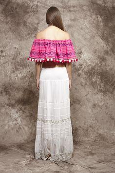 Cuerpo mejicano rosa de rayas - 99,00€ : Zaitegui - Moda y ropa de marca para señora en Encartaciones