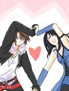 Final Fantasy 8 Rinoa and Squall cuuuute <3<3<3
