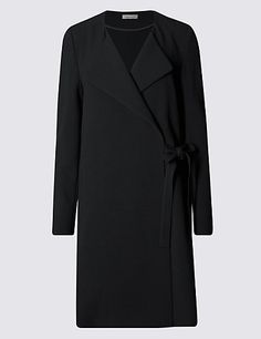Wrap Front Belted Coat