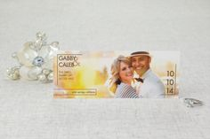 Photo Booth Save the Date Linen Cards - Chic Lines | MagnetStreet
