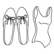Ballet dance wear coloring page