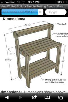 Potting bench idea