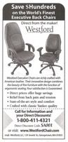 Westford Executive Chairs 2002 Ad Picture