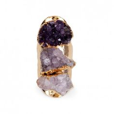 Sole Society - Linear Agate Ring - Purple Multi