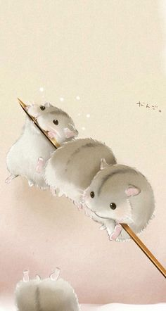Cute mouse wallpaper - Hamster❤ - - New Ideas Cute Animal Drawings, Kawaii Drawings, Cute Drawings, Drawing Animals, Image Swag, Animals Watercolor, Baby Animals, Cute Animals, Cute Hamsters