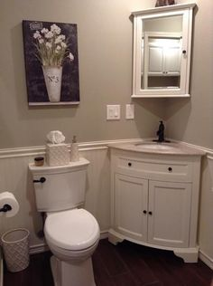 Corner bathroom sink cabinet home remodeling for Extra small bathroom ideas