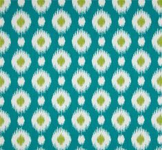 Tempo - Delhi Peacock - Turquoise Ikat - Fabric by the Yard $9.95 yd. For Kitchen or Laundry room valance