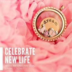 Celebrate new life with an Origami Owl creation like this one!  www.christinanguyen.origamiowl.com