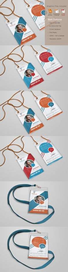 Dazzling Corporate Office ID Card is a designed for Any types of companies. It is made by simple shapes Although looks very professional. Business Cards Layout, Simple Business Cards, Business Card Mock Up, Business Card Design, Id Design, Badge Design, Design Cars, Design Ideas, Layout Design