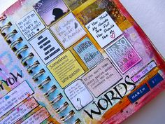 great way to include all those quotes art journal notetaking