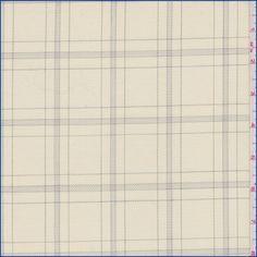 Cream/Grey Plaid Suiting - 39259   Discount By The Yard   Fashion Fabrics