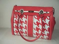$109.50 Guess Women s Love Lock Satchel Red Multi Handbag Shoulder Bag New | eBay