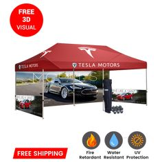 Our canopy tents 10x10 hold up even when the weather doesn't. Enjoy easy setup, shade from the sun, and protection from unexpected weather. Include full graphics, company branding, and unlimited colors with our promotional marketing tents from Branded Canopy Tents. #10x10canopytent #customtents, #customcanopy #customcanopytent #canopytent10x10, Pop Up Canopy Tent, Canopy Outdoor, Indoor Outdoor, Canopies For Sale, Tent Sale, Custom Canopy, Lithia Springs, Banner Stands, Frame Stand